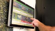 Touch screen voor virtuele lessen